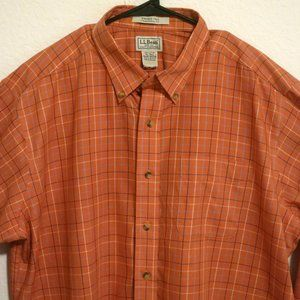LL Bean Long Sleeve Button Shirt XLT Wrinkle Free
